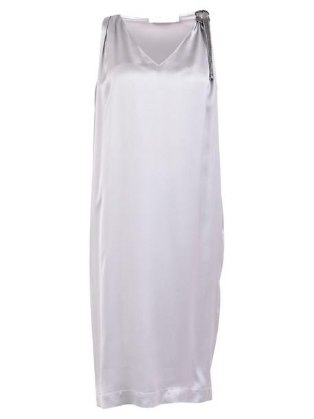 Fabiana Filippi Embellished Dress in grey