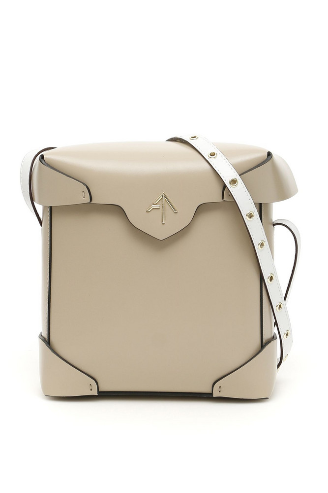 MANU Atelier Mini Pristine Bag in white / beige
