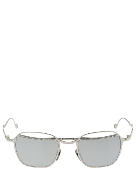 KUBORAUM BERLIN H71 Metal Sunglasses W/ Mirrored Lenses in silver