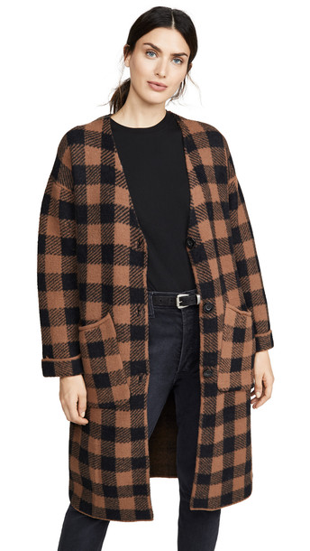 ASTR the Label Checkmate Cardigan in black