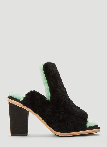 Eckhaus Latta X Ugg Open Toe Mules in Black size US - 06