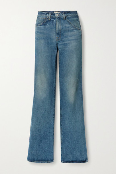 Nili Lotan - Celia High-rise Straight-leg Jeans - Mid denim