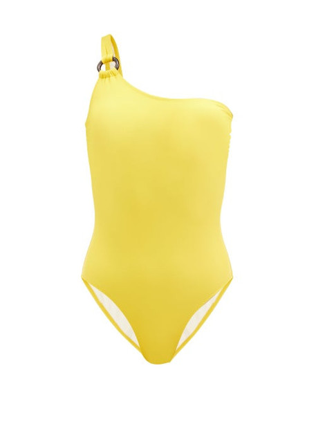 Solid & Striped - The Juliana One-shoulder Swimsuit - Womens - Dark Yellow