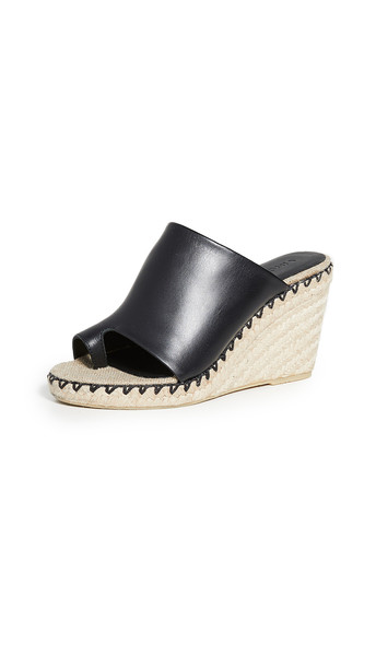 Vince Sutherland Toe Ring Mules in black