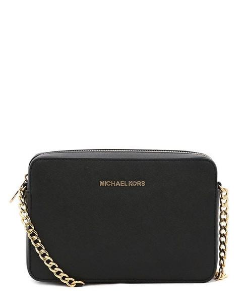 Michael Kors Jet Set Large Shoulder Bag in black