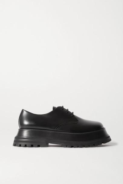 Burberry - Guild Leather Platform Brogues - Black