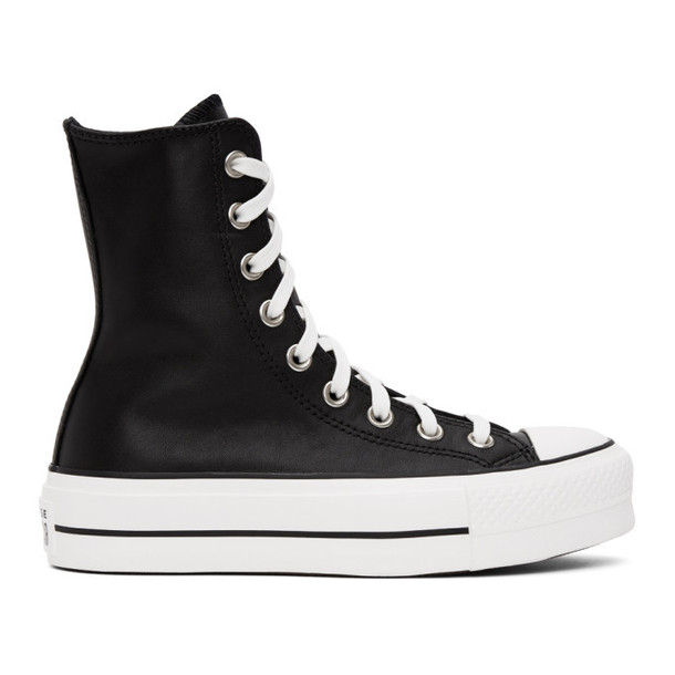 Converse Black Leather Chuck Lift High Sneakers