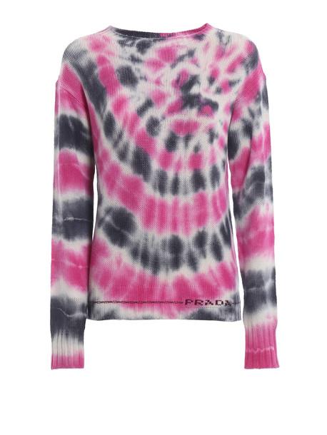 Prada Patterned Sweater in nero