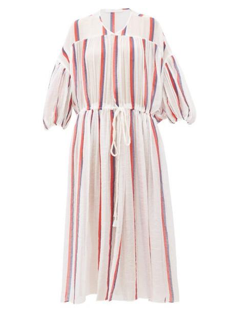 Love Binetti - Monaco Striped Cotton-voile Dress - Womens - White Stripe