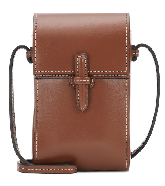 Hunting Season The Pouch leather crossbody bag in brown