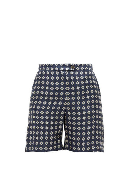 S Max Mara - Fuoco Shorts - Womens - Navy Multi