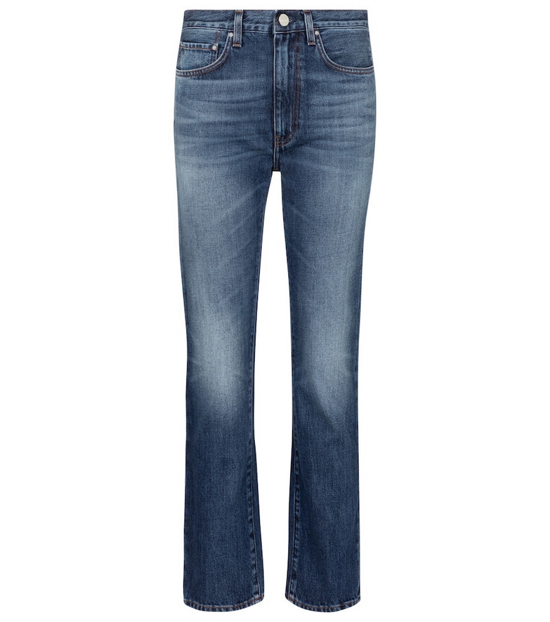 Toteme High-rise straight jeans in blue