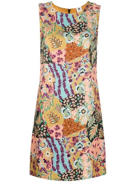 M Missoni floral print sleeveless mini dress in neutrals