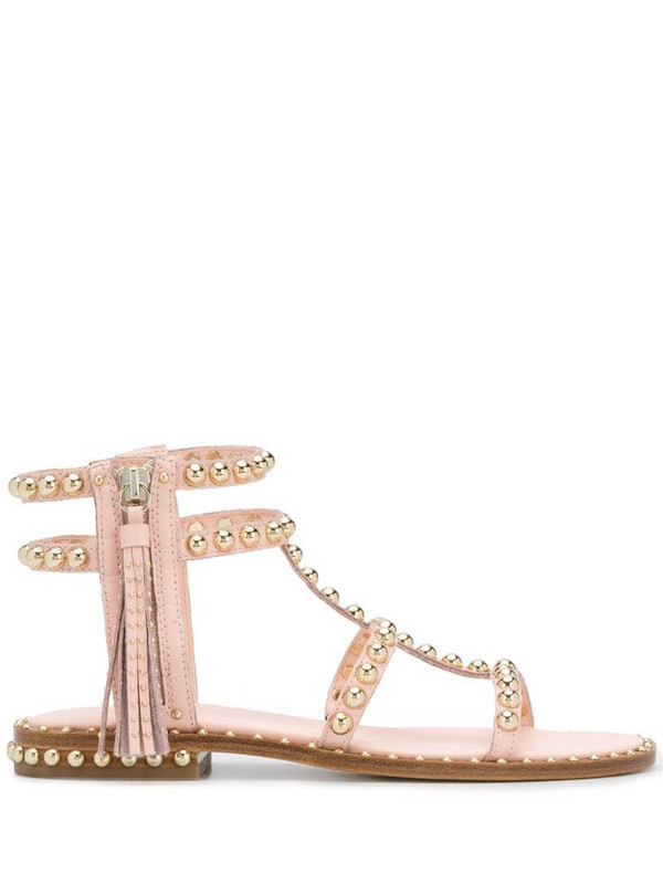 Ash studded strap sandals in pink