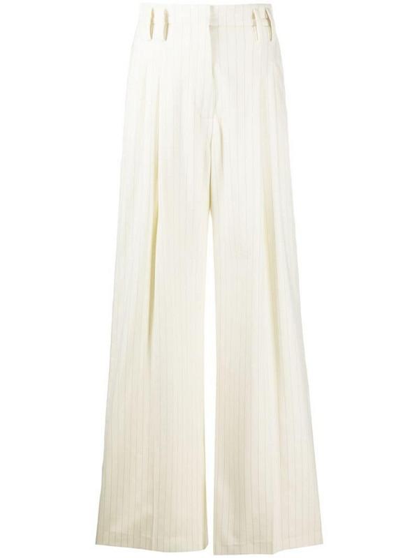 Racil pinstripe wide-leg trousers in neutrals