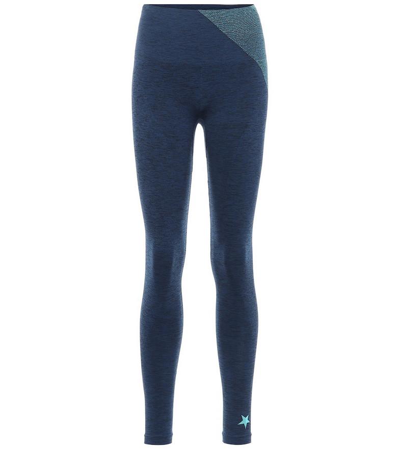 Lndr Comet performance leggings in blue