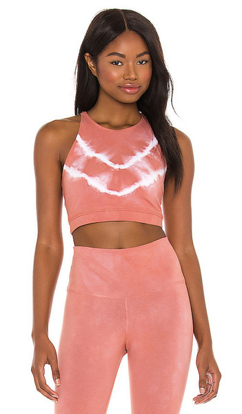 Electric & Rose Grayson Crop Top in Pink in blush
