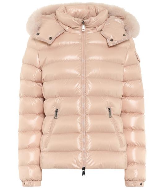 Moncler Badyfur down jacket in pink