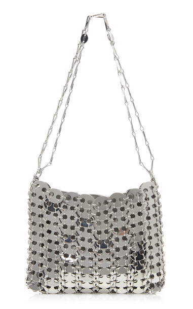 Paco Rabanne Nano 69 Chainmail Brass Bag in silver