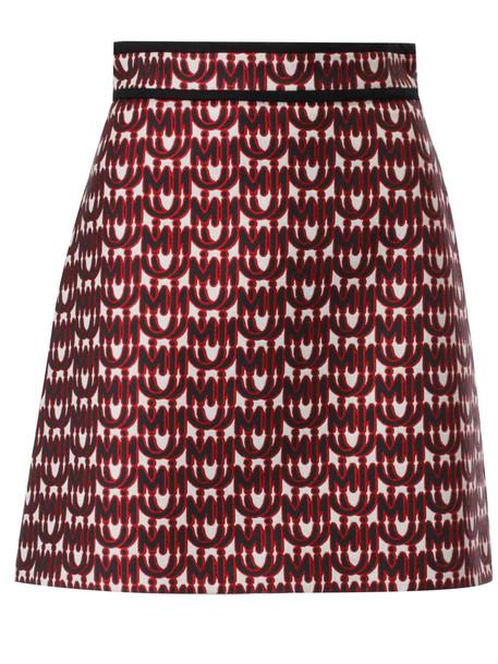 Miu Miu Logo Print Skirt