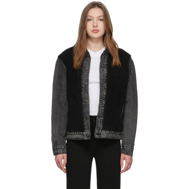 Levis Black Sherpa Trucker Jacket