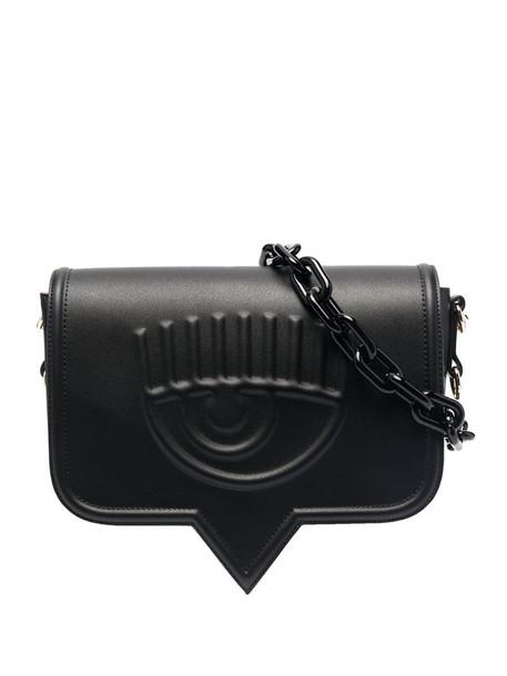 Chiara Ferragni Eyelike leather shoulder bag in black
