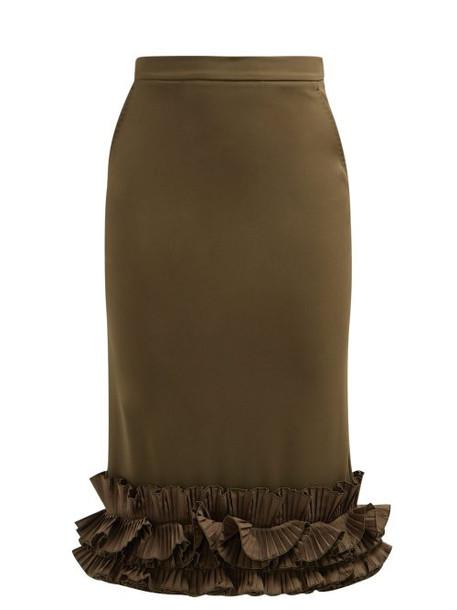 Max Mara - Zircone Skirt - Womens - Khaki