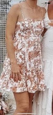 dress,floral,white dress,casual dress