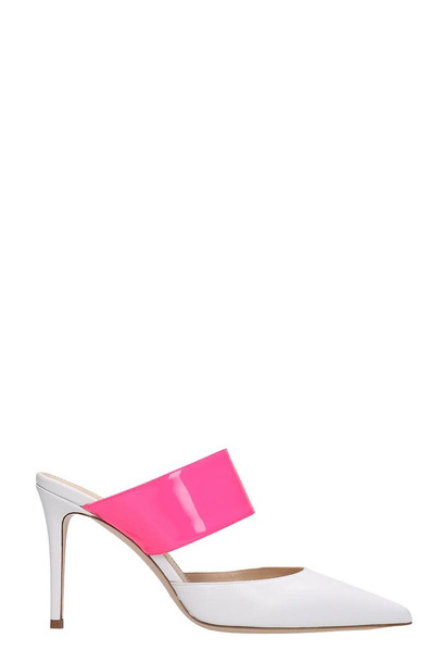 Dei Mille White Leather Mule Sandals