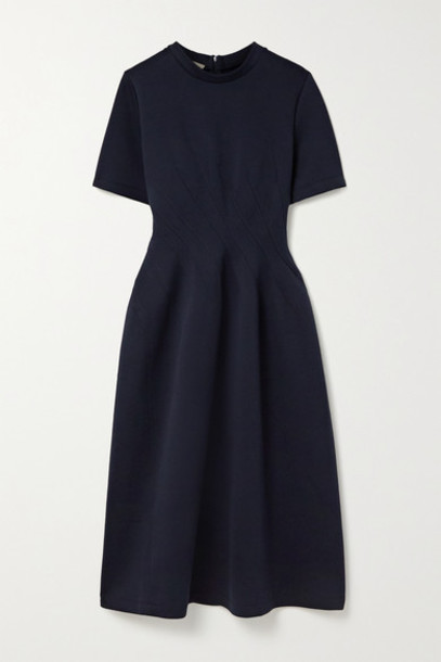 Marni - Cotton-blend Jersey Dress - Midnight blue