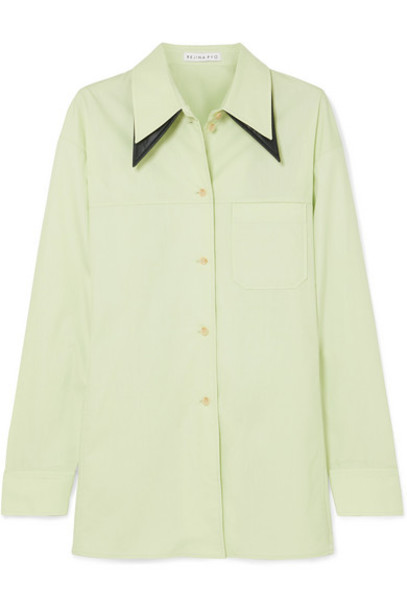 REJINA PYO - Rory Oversized Cotton-blend Shirt - Mint