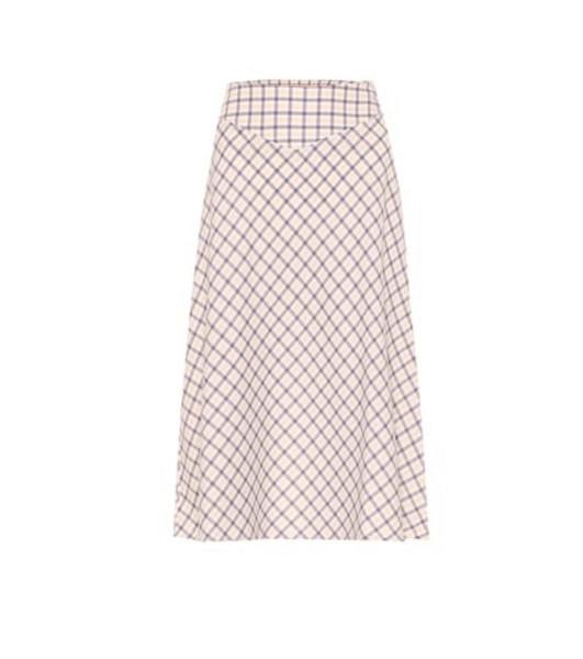 Baum und Pferdgarten Exclusive to Mytheresa – Senga checked cotton midi skirt in yellow