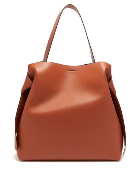 Acne Studios - Musubi Large Leather Tote Bag - Womens - Tan