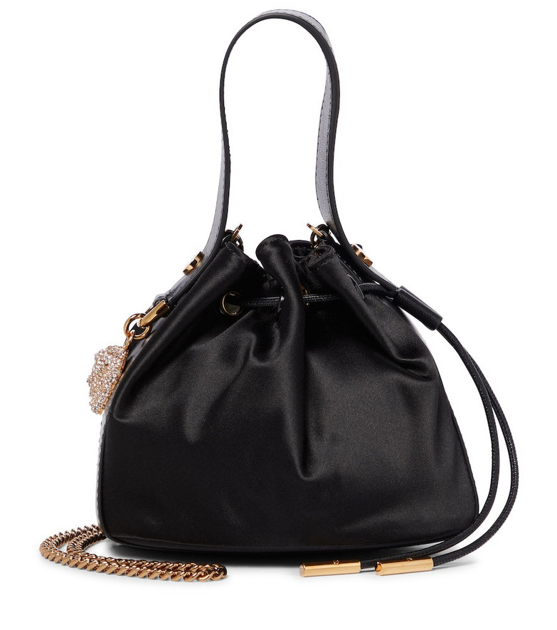 Versace Medusa Small leather tote in black