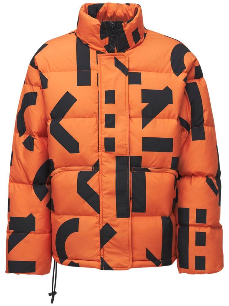 Kenzo Sport Printed Down Jacket in black / orange