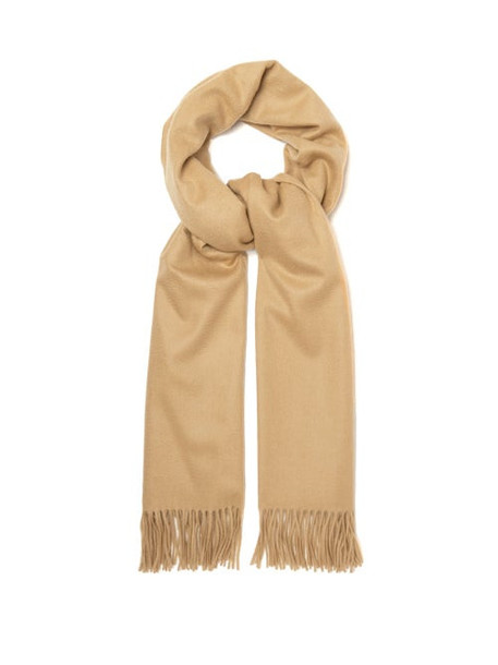 Johnston's Of Elgin - Fringed Cashmere Scarf - Womens - Camel