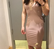 dress,cream/nude,leather