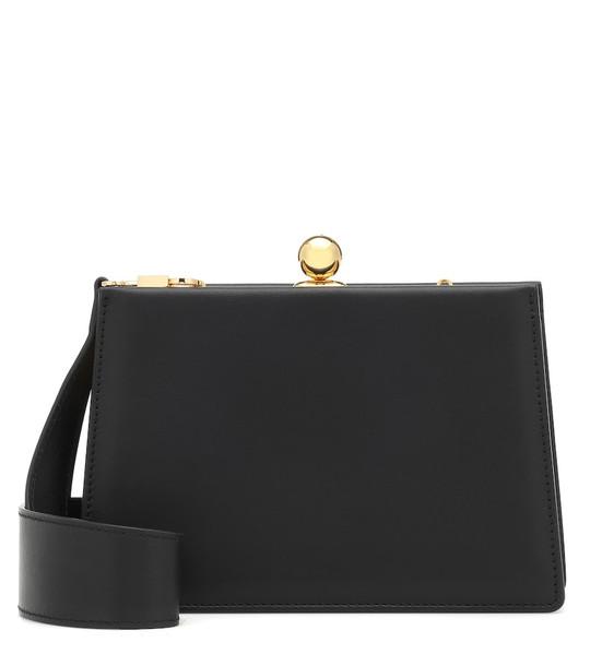 Ratio et Motus Mini Twin leather shoulder bag in black