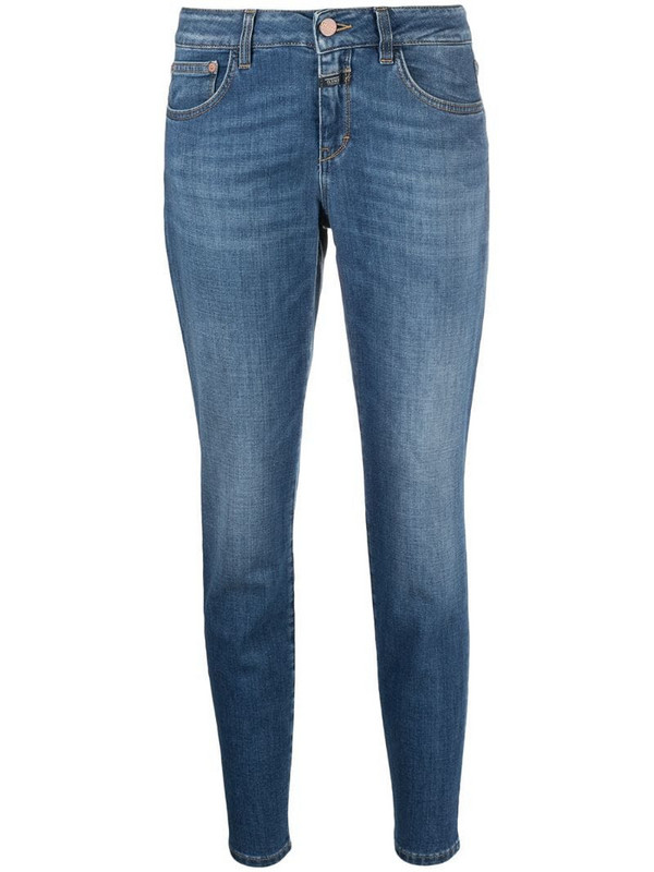 Closed cropped leg jeans in blue