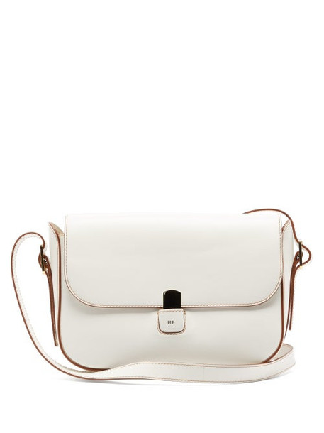 Hillier Bartley - Buckled-strap Leather Shoulder Bag - Womens - Cream