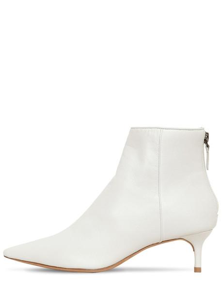 ALEXANDRE BIRMAN 50mm Kittie Leather Ankle Boots in white