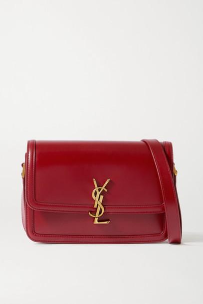SAINT LAURENT - Solferino Medium Leather Shoulder Bag - Red