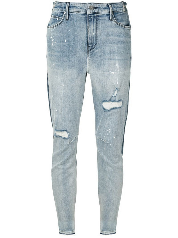 RtA two-tone skinny jeans in blue
