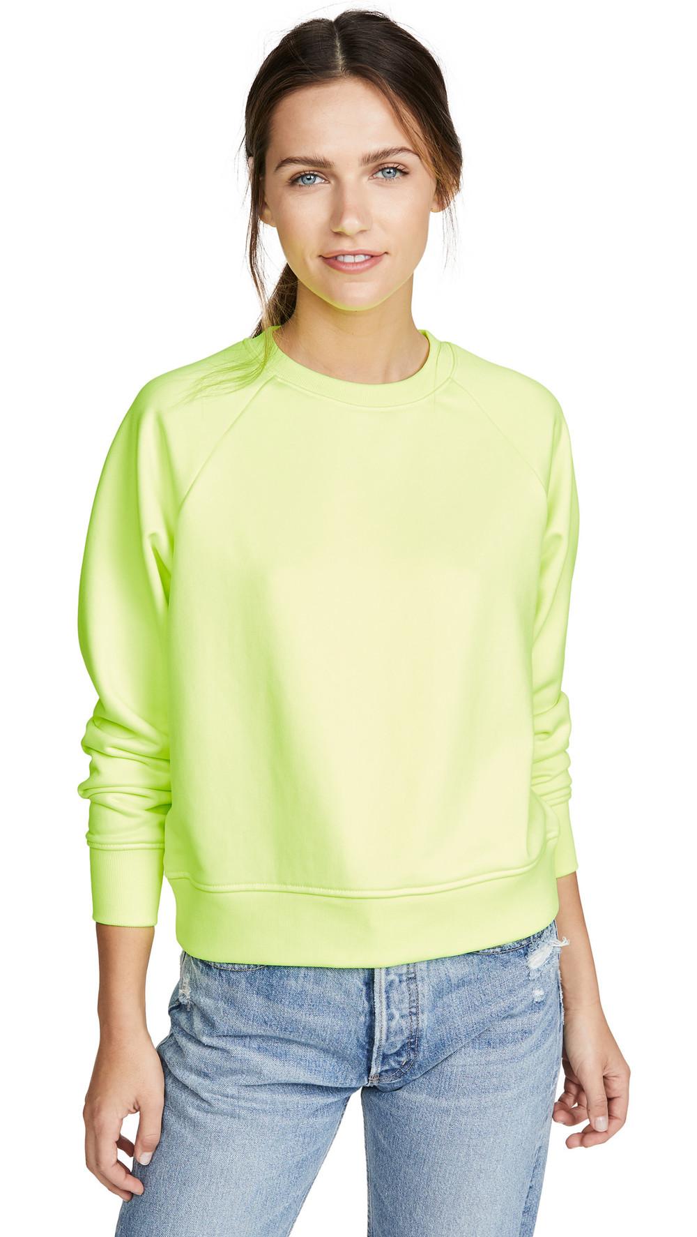 Hanes x Karla The Crew Sweatshirt-XK049 in yellow