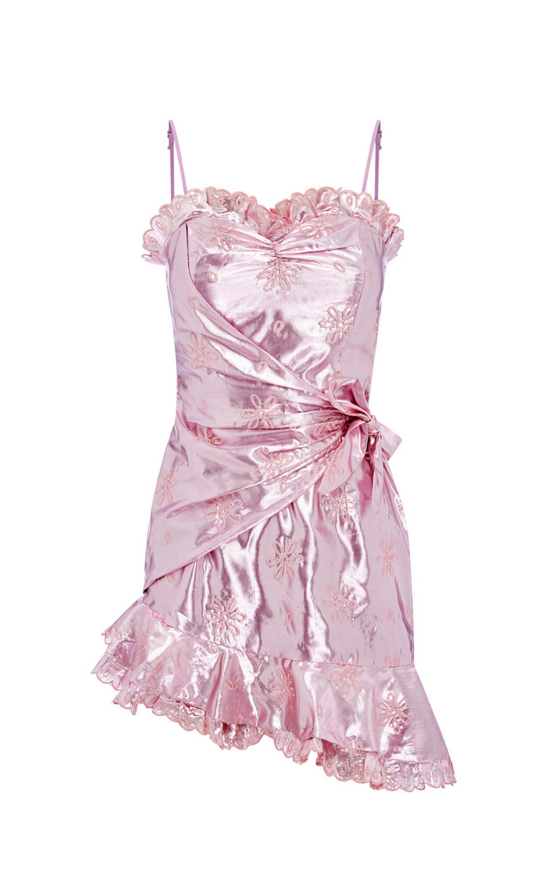 Alice McCall Electric Galaxy Mini Wrap Dress in pink