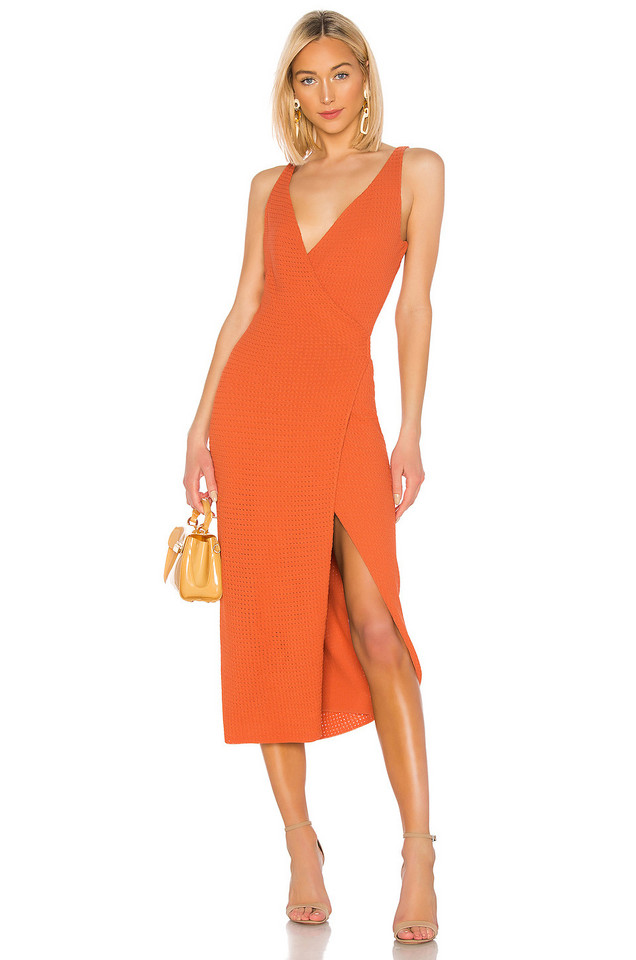 THE JETSET DIARIES Flowers On The Wall Dress in orange