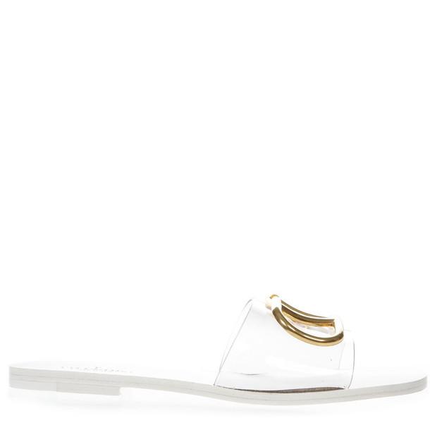 Valentino Garavani White Vlogo 5 Mm Slide Sandal