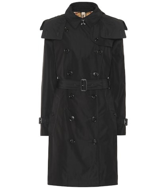 Burberry Hooded trench coat in black