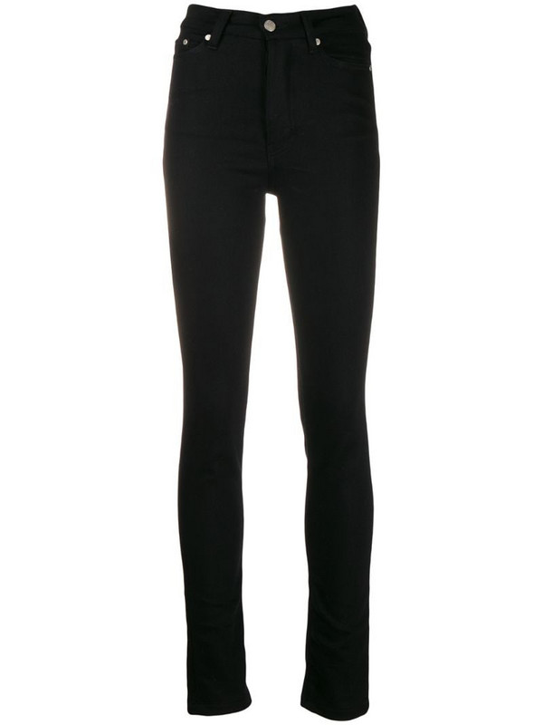 AMI Paris Skinny Fit 5 Pockets Jeans in black