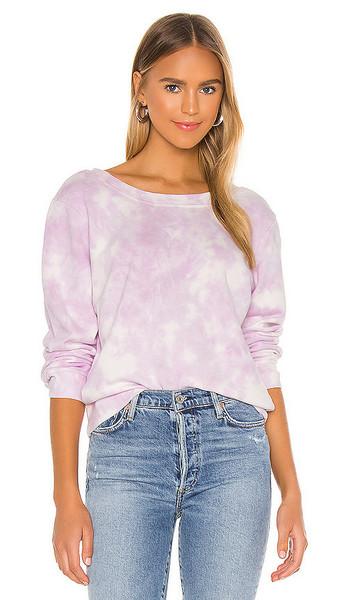 525 america 2 Way U-V Sweatshirt in Purple in lilac